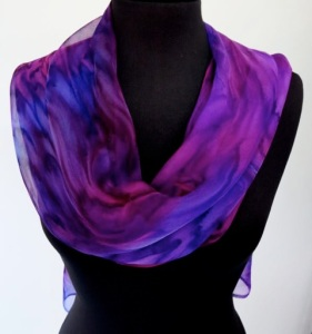 Misty Orchid Joy Silk Scarf